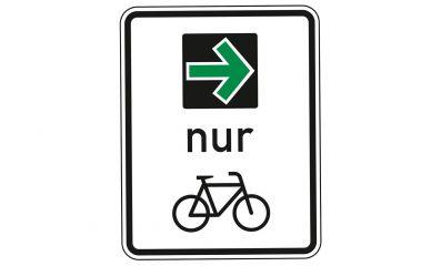 Pilotversuch der Bundesanstalt für Straßenwesen (BASt): Grünpfeilregelung für den Radverkehr