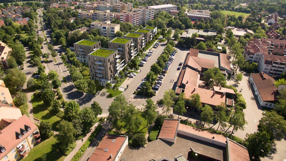 Die Odenwaldalle im Stadtwesten. Foto: GEWOBAU/Gräßel Architekten