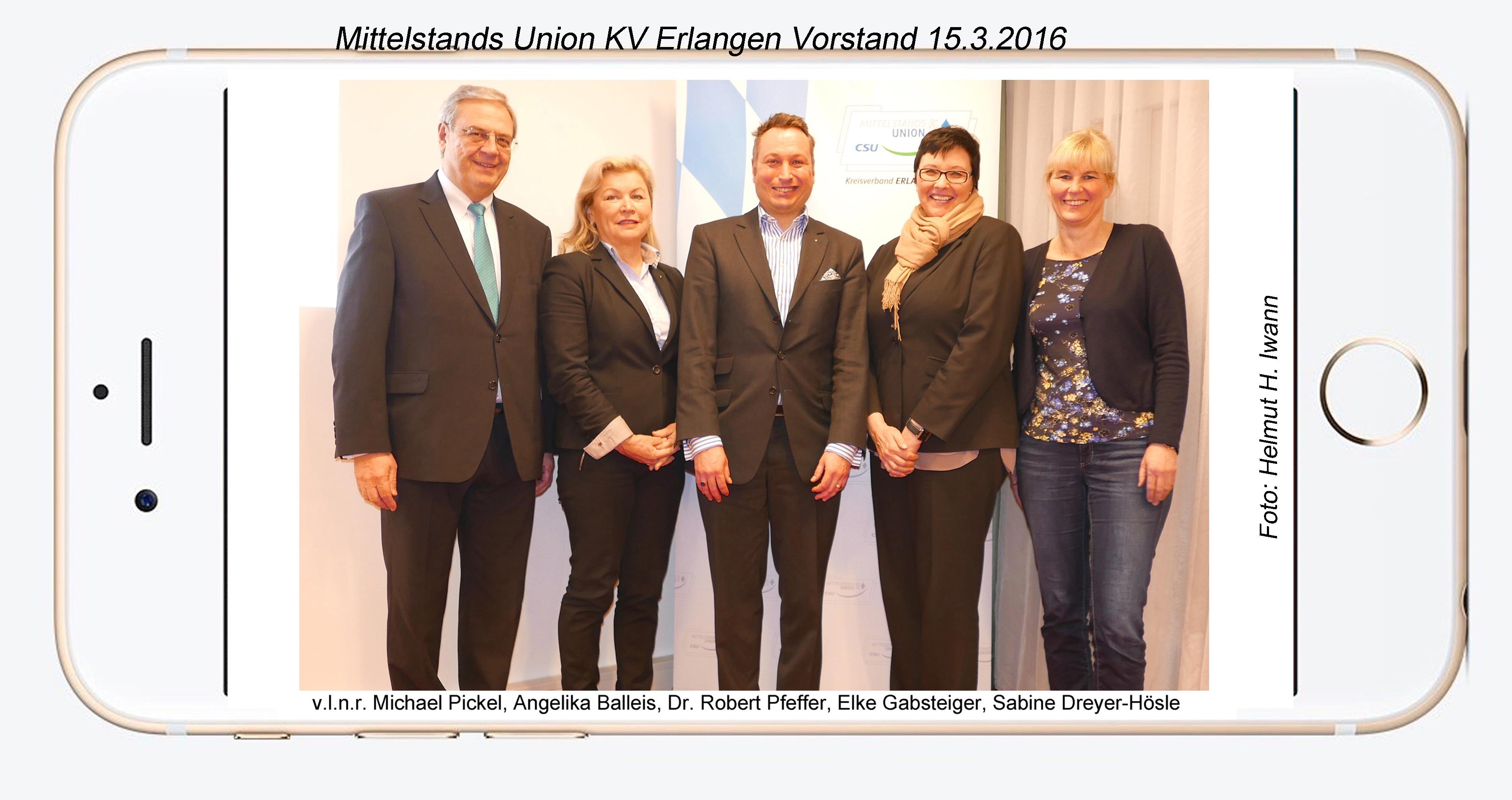 Dreyer Erlangen mittelstandsunion kreisverband erlangen wählte neuen vorstand